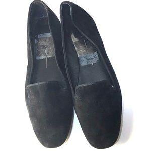 Dolce vita black suede micro fiber flat loafers